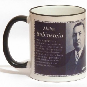 Akiba Rubinstein chess mug