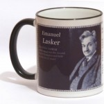 Emanuel Lasker chess mug