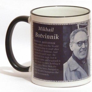 Mikhail Botvinnik chess mug