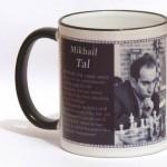 Mikhail Tal chess mug