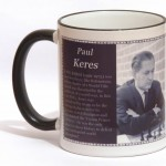 Paul Keres chess mug