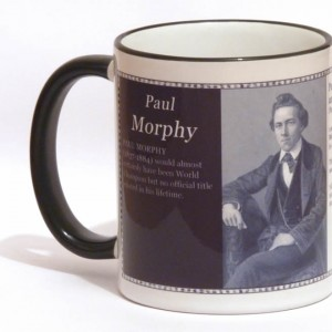 Paul Morphy chess mug